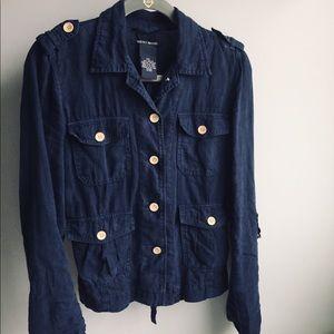 Linen LUCKY BRAND blue blazer S/P